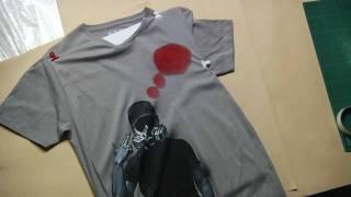 Sbarsiniestro stencil t shirt by Sbarsiniestro time lapse
