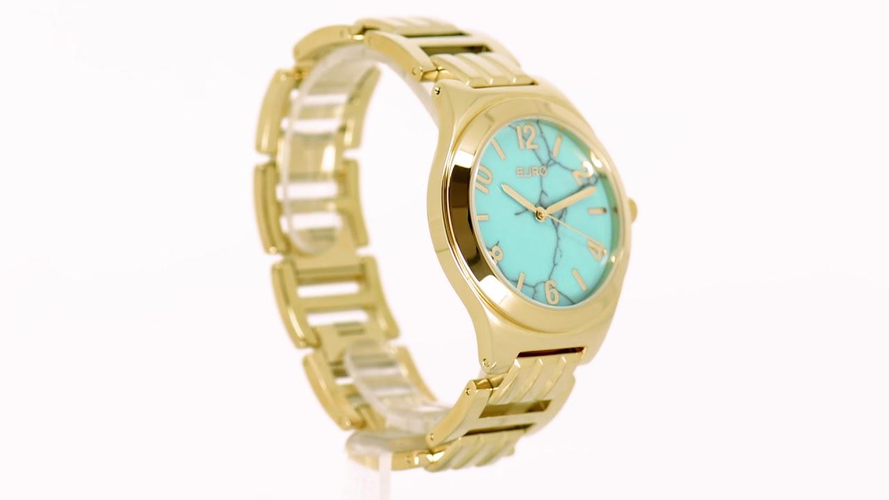 90258410386 Relógio Euro Feminino Turquesa EU2033AG 4A - Eclock - YouTube