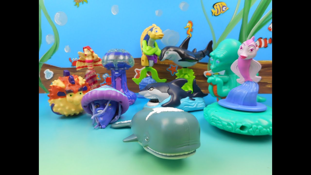 burger kings shark tales set of 10 kids meal toys video