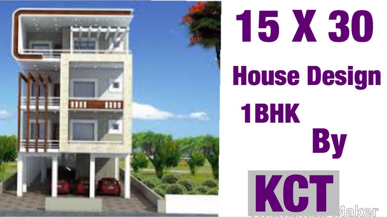 15 X 30 House Design House Plan Map 1 Bhk Ghar Ka