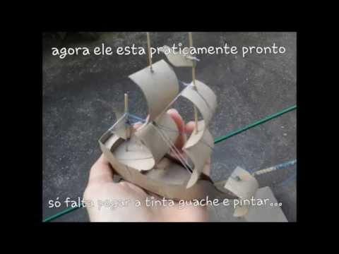 Como fazer um navio de rolo de papel higi nico youtube - Musica divano era ...