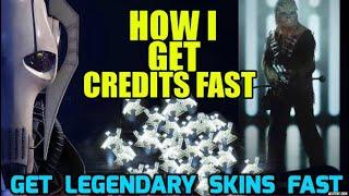 Star Wars Battlefront II HOW TO GET CREDITS FAST (Easy Grind for Legendary Skins)