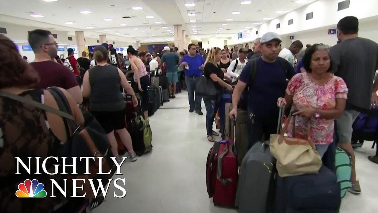 Puerto Rico Residents Desperately Trying to Leave the Island