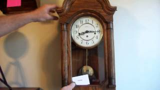 Solid Oak Howard Miller Westminster Chime Wall Clock