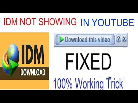 IDM extension not showing on YouTube 2019 | Fix IDM Download Bar is Not Showing | 100% Fixed |
