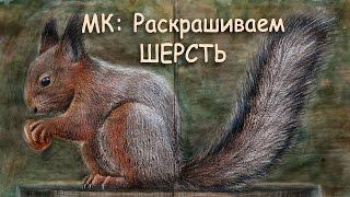 "МК: ШЕРСТЬ ЖИВОТНЫХ / Раскраска ""Нетронутая Красота"""