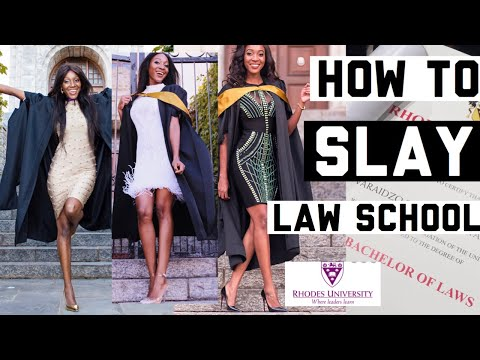 HOW TO SLAY LAW SCHOOL | RHODES UNIVERSITY SOUTH AFRICA GRADUATE