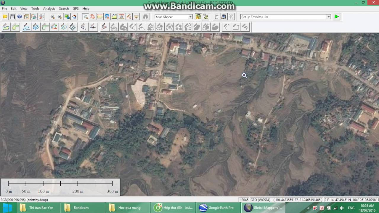 Tải ảnh từ Google Earth về máy tính và nắn ảnh về VN 2000 theo kinh tuyến trục Sơn La
