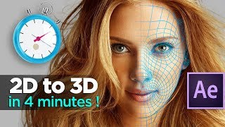 How To ANIMATE a PHOTO in 3D with After Effects