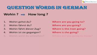 W Fragen  Deutsch | Question Words In German |