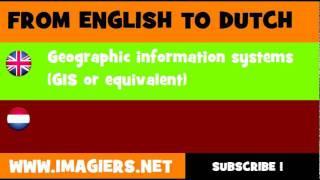 nederlands engels geografische informatiesystemen gis of dergelijke
