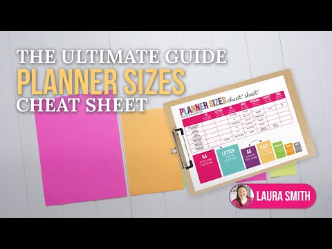 Planner Sizes: The Ultimate Guide