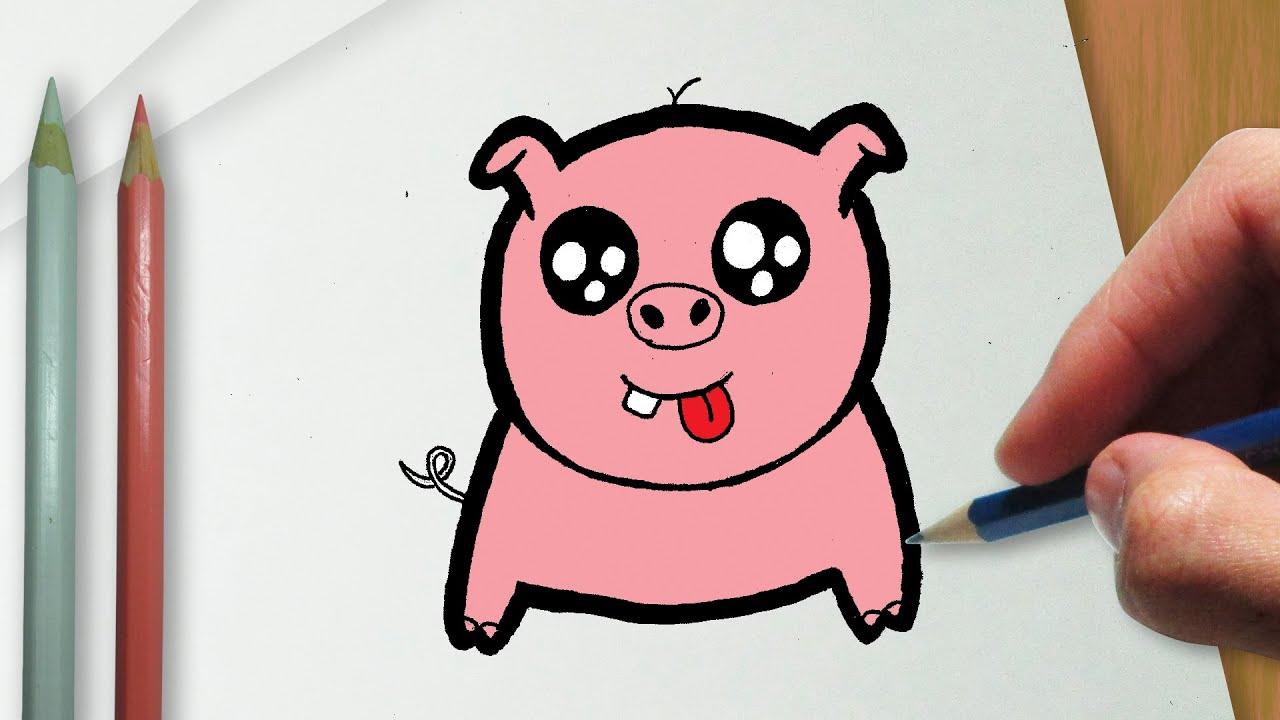 como desenhar um porquinho kawaii youtube