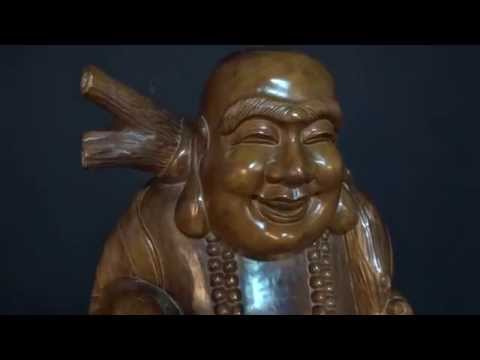 Antique Indonesian Fat & Happy Buddha Statue www.lotussculpture.com