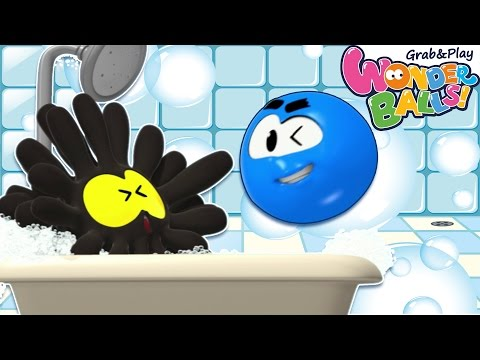 Bath Time With WonderBalls | Bubble Bath and More | Cartoons For Children | WonderBall Playground