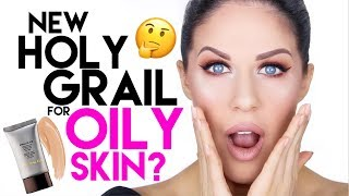 NEW HOLY GRAIL FOUNDATION FOR OILY SKIN???! HOURGLASS IMMACULATE FOUNDATION REVIEW + DEMO!!