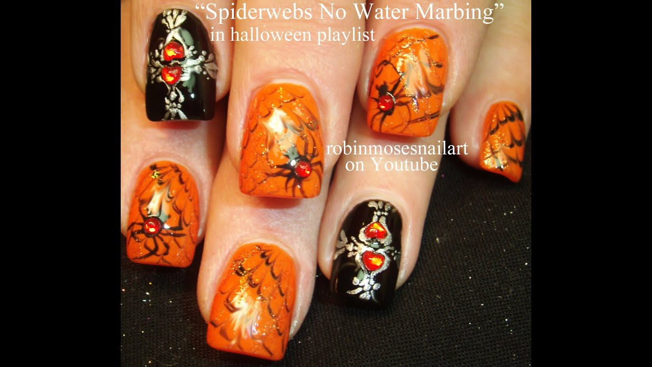 3 halloween nail art tutorials easy nail art for beginners 3 halloween nail art tutorials easy nail art for beginners youtube prinsesfo Images