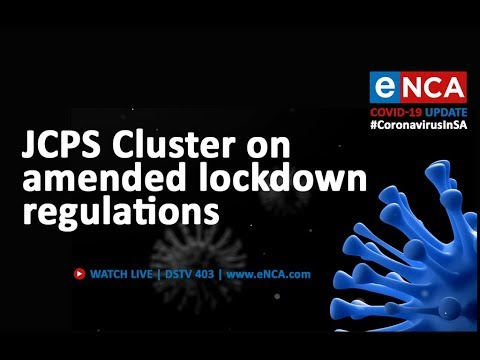 Justice, Crime Prevention and Security Cluster on amended regulations - eNCA