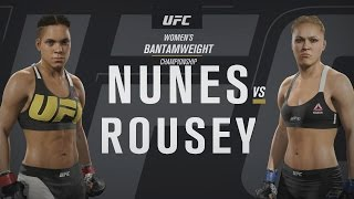 EA SPORTS UFC 2 - UFC 207: Amanda Nunes v Ronda Rousey Gameplay [1080p HD]