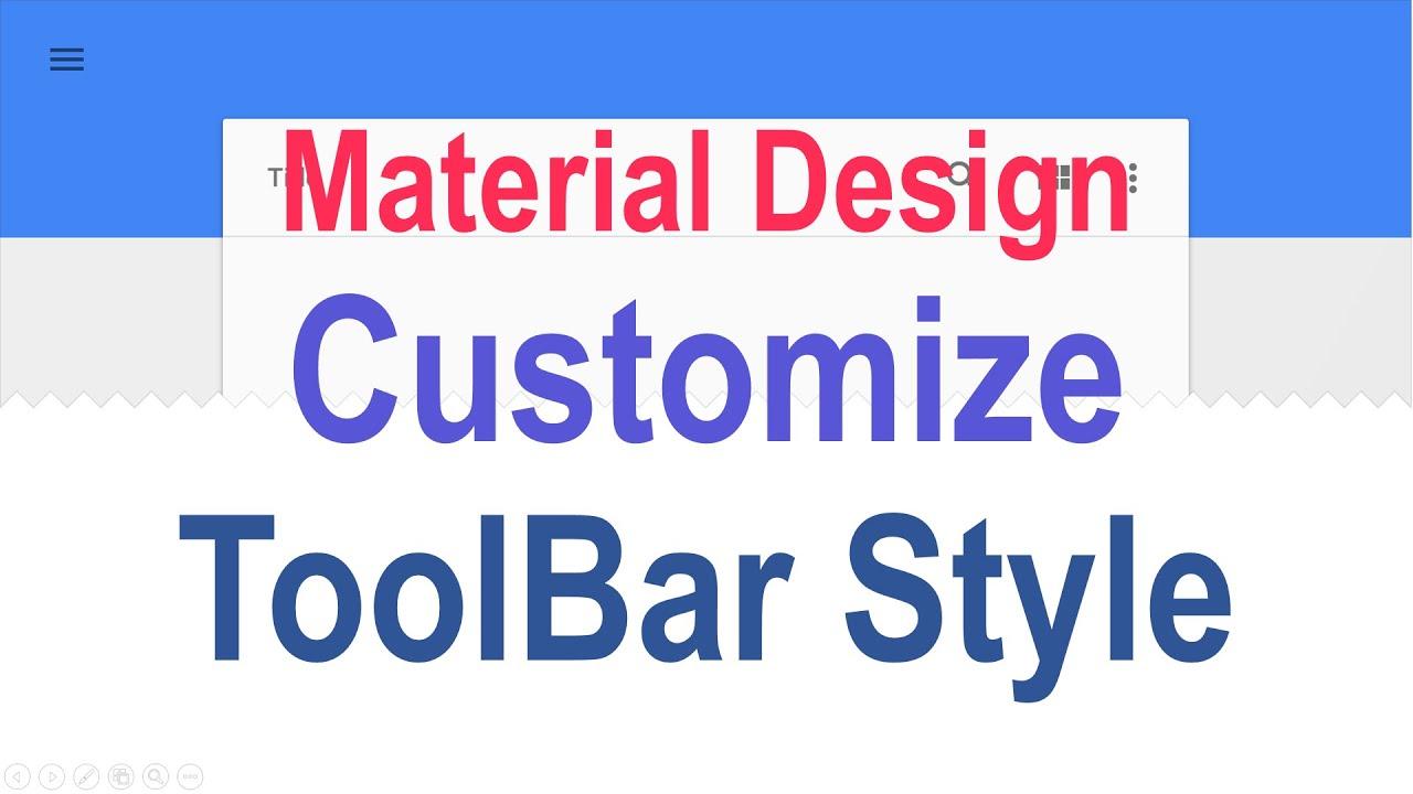 216 Android Custom Toolbar |