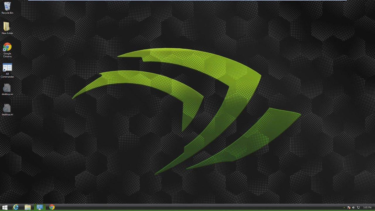 Nvidia Theme For Windows 7 8 10 Youtube