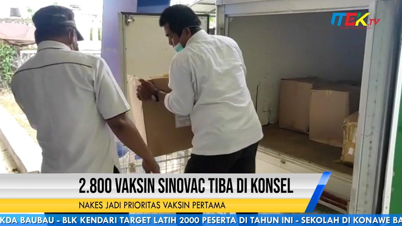 2 800 Vaksin Sinovac Tiba di Konsel