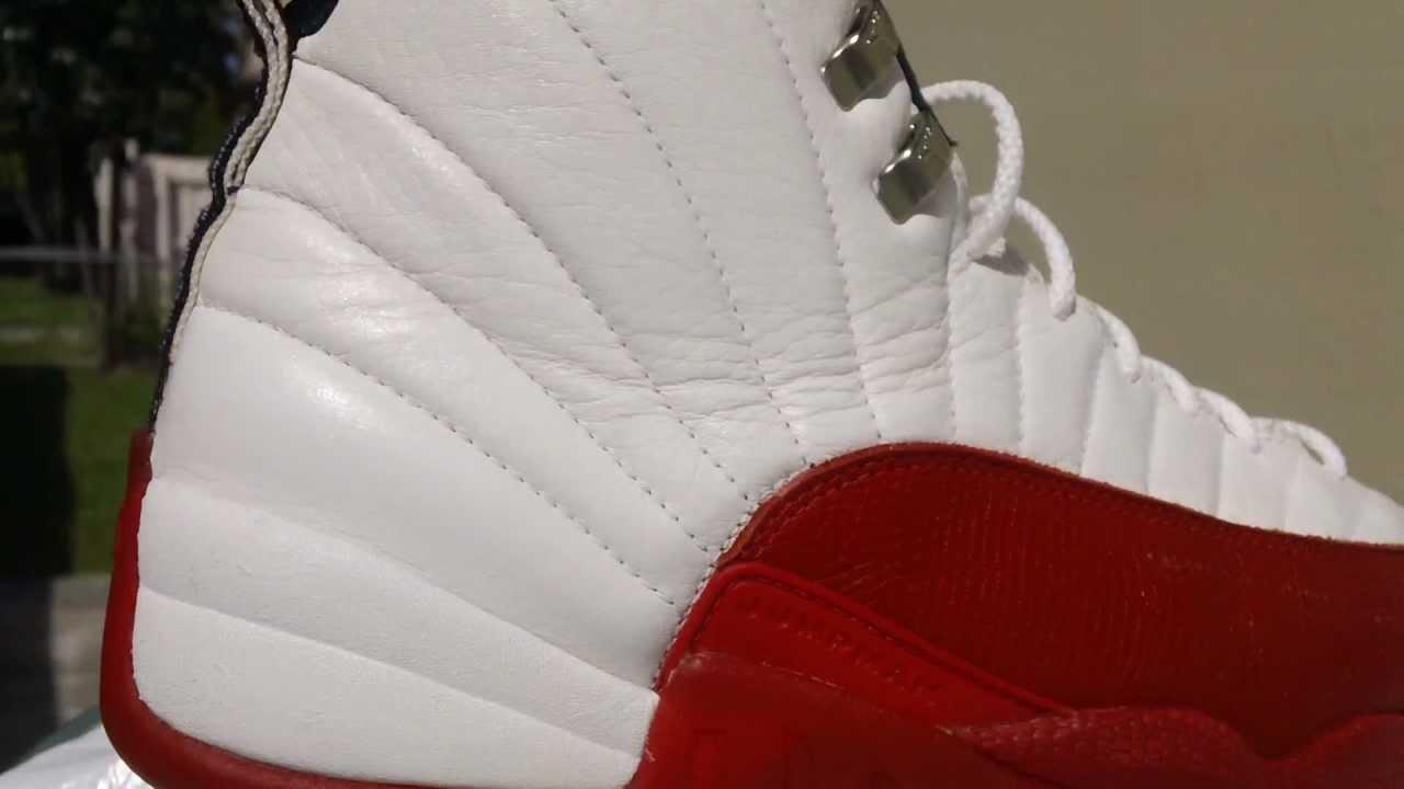 pretty nice f9191 ad9ab Air Jordan 12 XII OG 1997 Cherry Bulls White / Varsity Red / Black Size 11.5