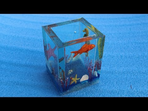 How to make ocean themed container || Resin Art || Diy