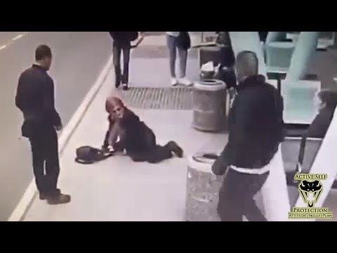Bully Picks on Elderly Woman   Active Self Protection