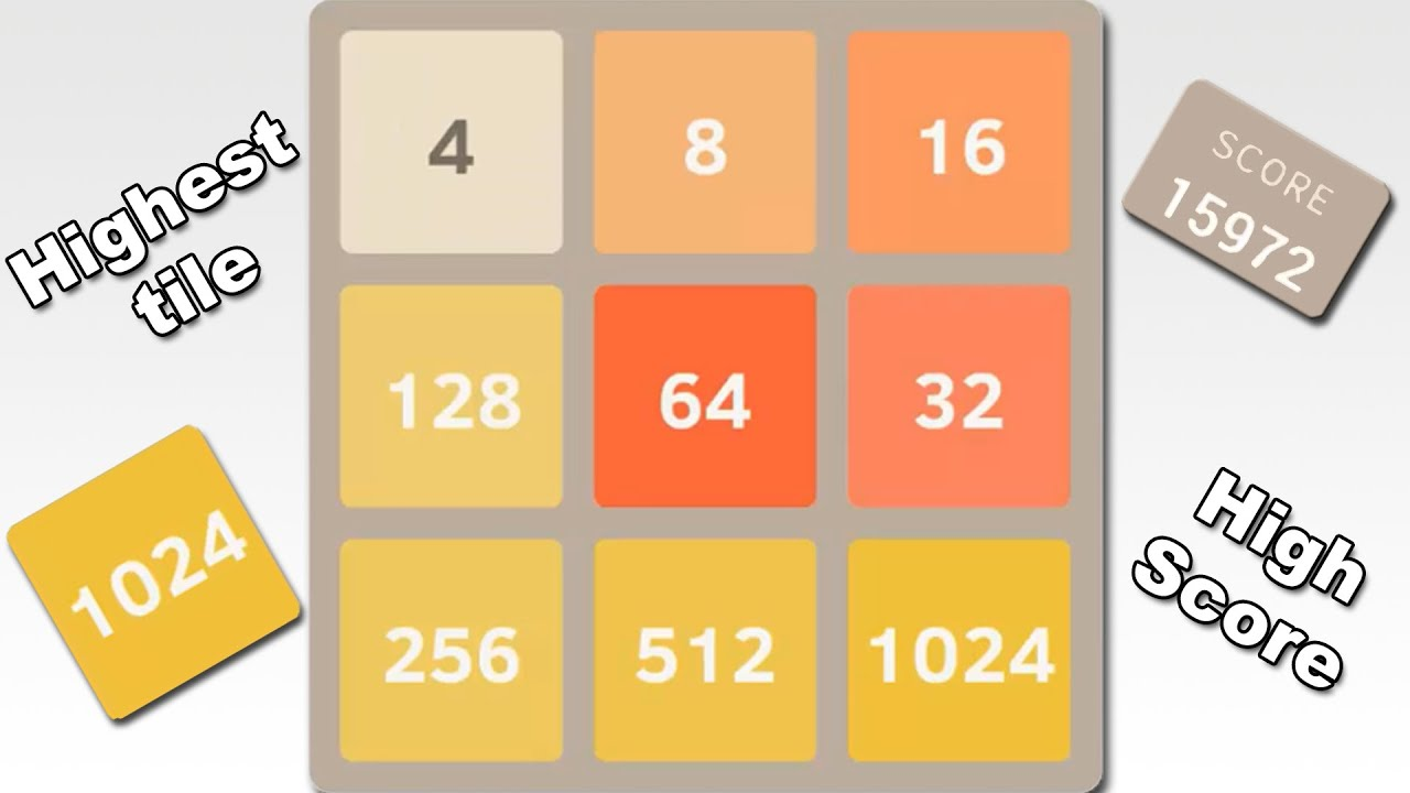 2048 Plus - The Highest Tile and High Score in 3x3 Mode ...