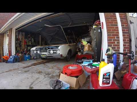 1967 Oldsmobile Delta 88 cold start. Multiple camera angles.