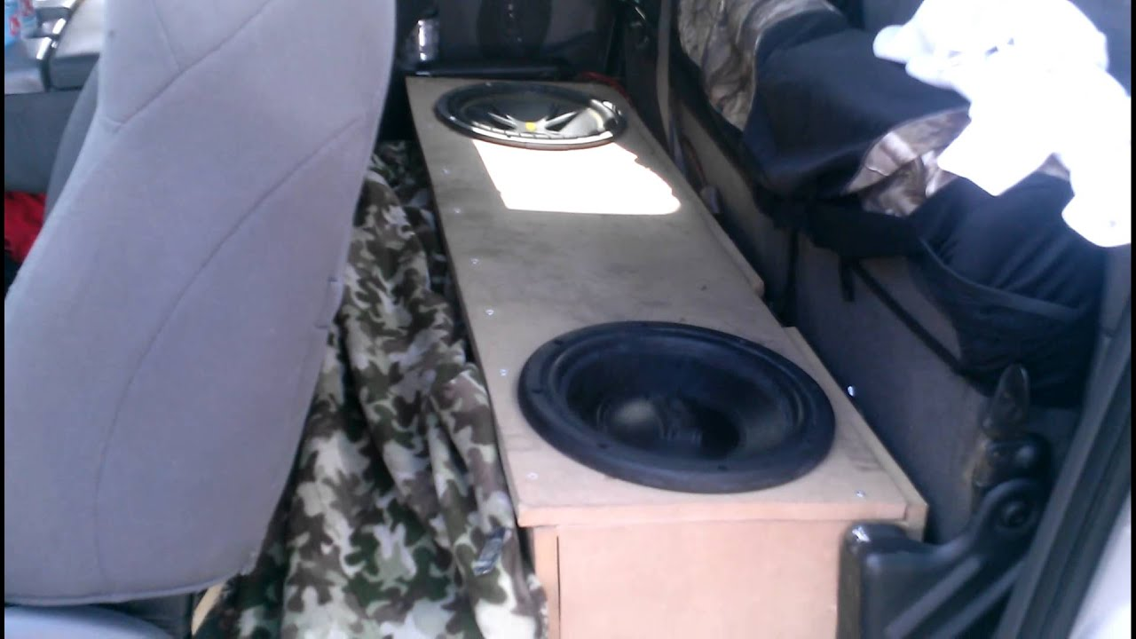 F150 Under Seat Subwoofer Update Pt 1 Youtube