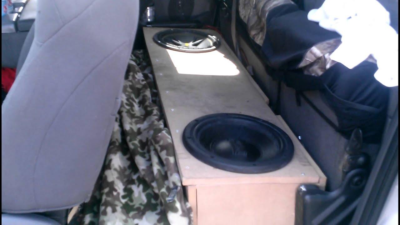 Amp Radio Subwoofers Wiring F150 Under Seat Subwoofer Update Pt 1 Youtube