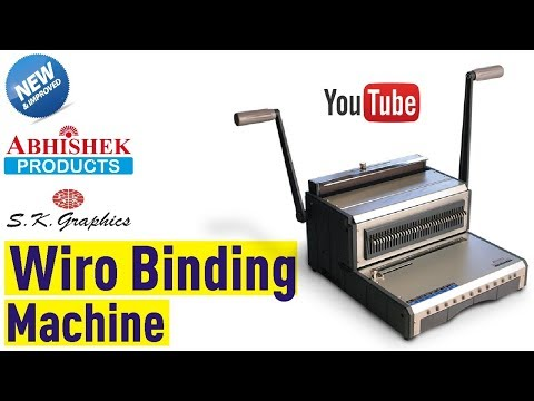 Wiro Binding Machine @ S.K. Graphics