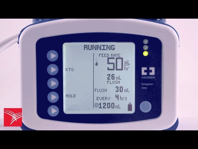 Using the Flush Now feature of the Kangaroo™ Joey Enteral Feeding Pump