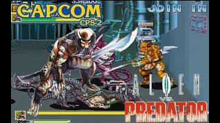 Alien Vs. Predator Arcade Lev8 Predator Hunter no death playthrough