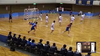 9日 ハンドボール男子 あづま総合体育館 Aコート 氷見×洛北 準決勝 1