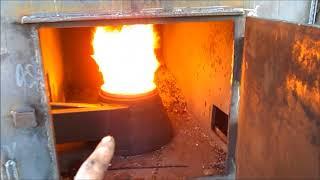 Пиролизная печь на резине.