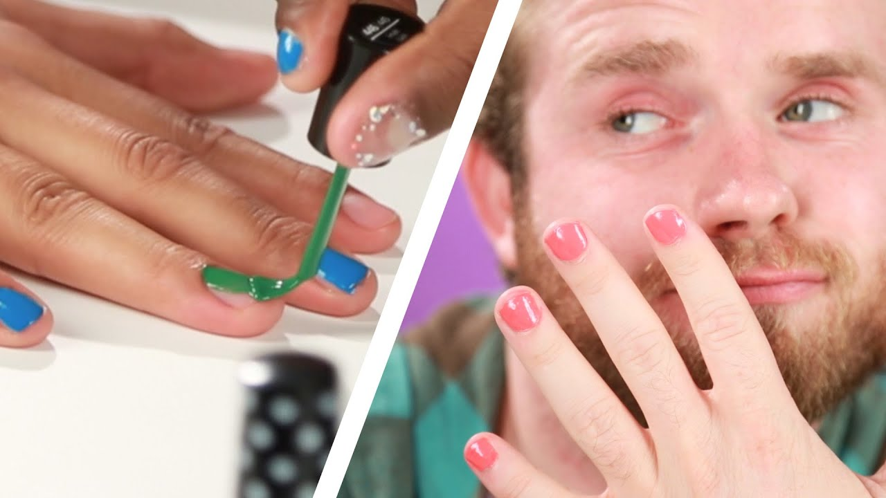 Drunk Guys Paint Each Other\'s Nails - YouTube