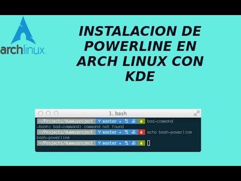 Super bash con Powerline,Tmux,Vim para Arch Linux KDE