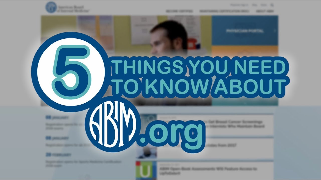 5 Things You Need to Know About the New ABIM org