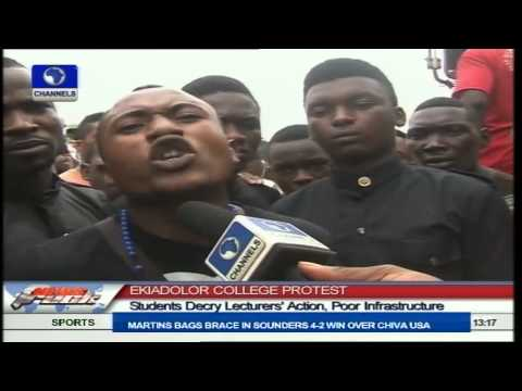 Ekiadolor College Protest: Students Decry Lecturers' Action, Poor Infrastructure