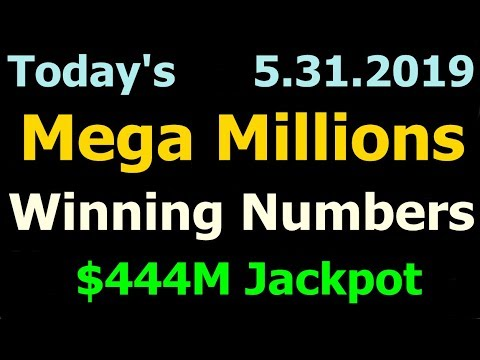Today Mega Millions Winning Numbers 31 May 2019 Friday. Tonight Mega Millions Drawing 5/31/2019
