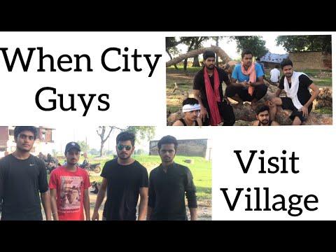 """When City Guys Visit Village For First Time ""   Awanish Singh   Desi Vines"