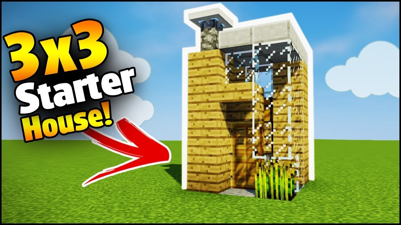 minecraft 3x3 starter house tutorial how to build a house in minecraft youtube. Black Bedroom Furniture Sets. Home Design Ideas