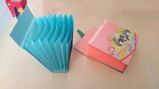 教你折纸多功能文具盒,做法很简单还可以当钱包,学生都喜欢