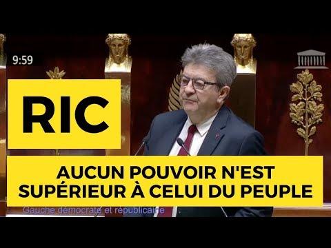 RIC : «AUCUN POUVOIR N'EST SUPÉRIEUR À CELUI DU PEUPLE»
