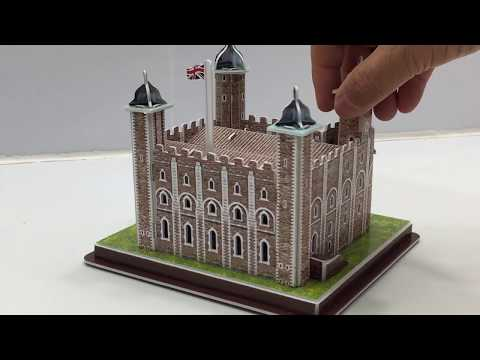 DIY Miniature TOWER OF LONDON ~ 3D Puzzle