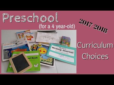 2017-2018 Curriculum Choices: Preschool (4 year old)
