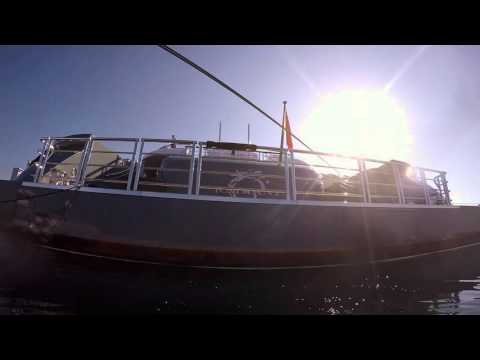Mega Yacht underwater cleaning
